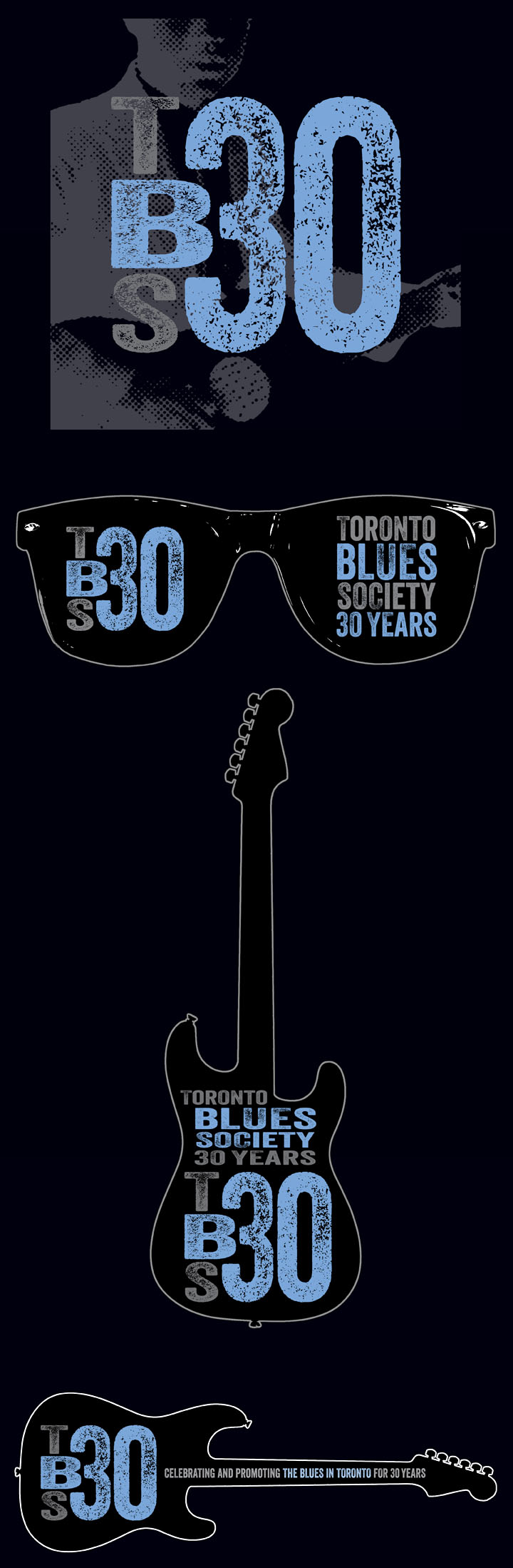 toronto blues society 30th logo